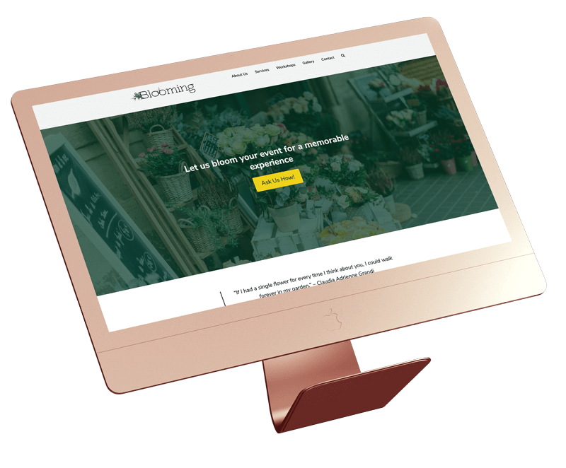Blooming Florist Home Page