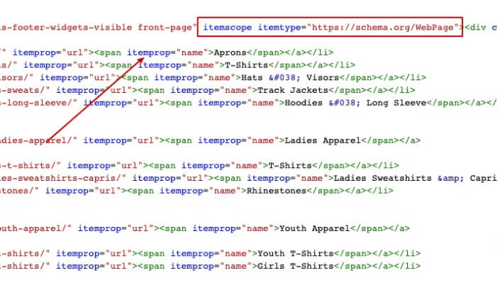 Example of Schema Tags